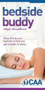 Bedside Buddy Sleep Handbook from the Toowoomba Chiropractic Centre